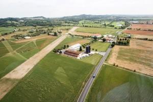 Foto aeree della nuova pista